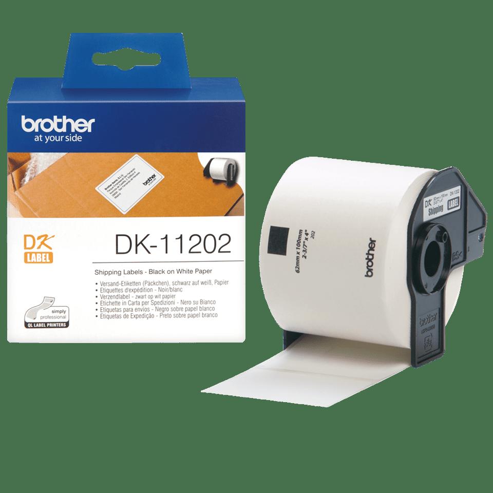 Brother DK-11202 Einzeletiketten – schwarz auf weiß 3