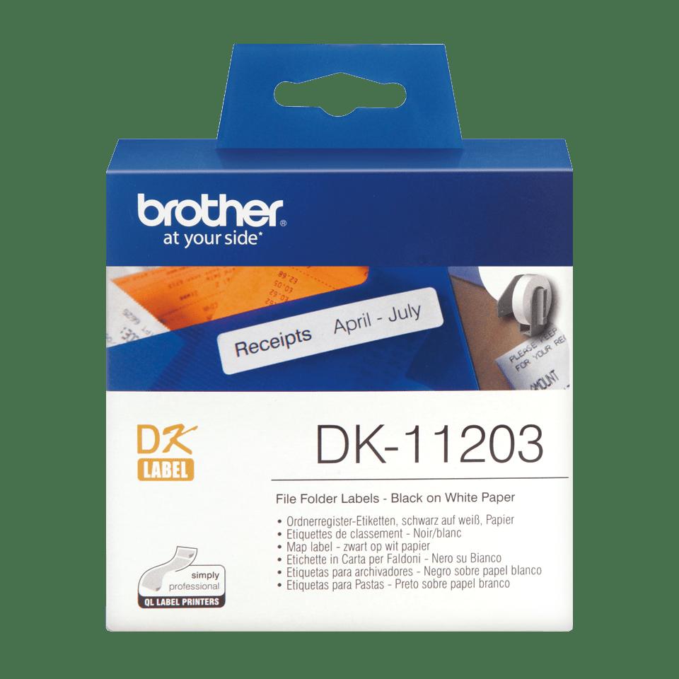 Brother DK-11203 Einzeletiketten – schwarz auf weiß