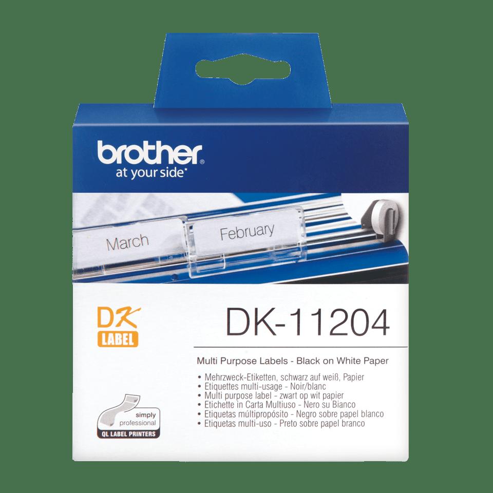 Brother DK-11204 Einzeletiketten – schwarz auf weiß