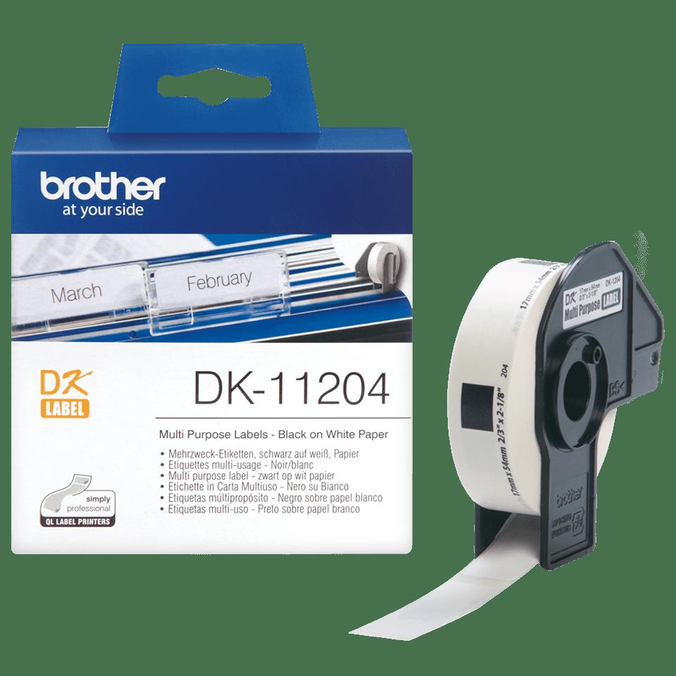 Brother DK-11204 Einzeletiketten – schwarz auf weiß 3