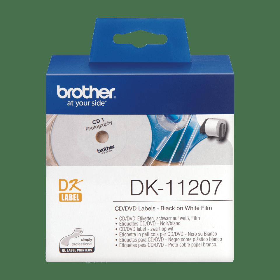 Brother DK-11207 Rundetiketten – schwarz auf weiß 0