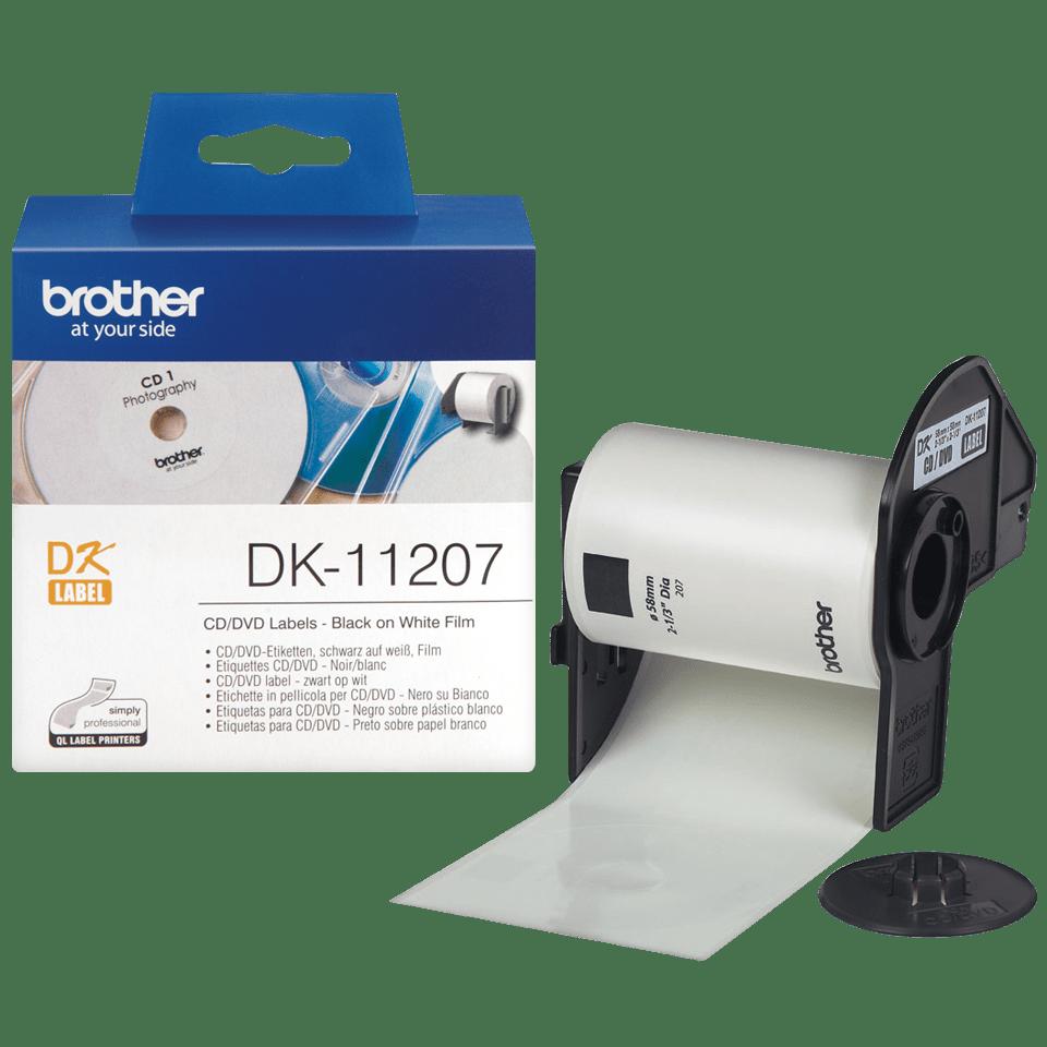 Brother DK-11207 Rundetiketten – schwarz auf weiß 2