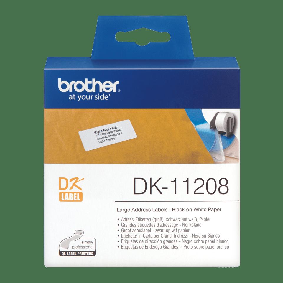 Brother DK-11208 Einzeletiketten – schwarz auf weiß