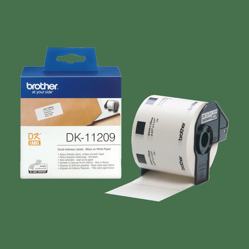 Brother DK-11209 Einzeletiketten – schwarz auf weiß