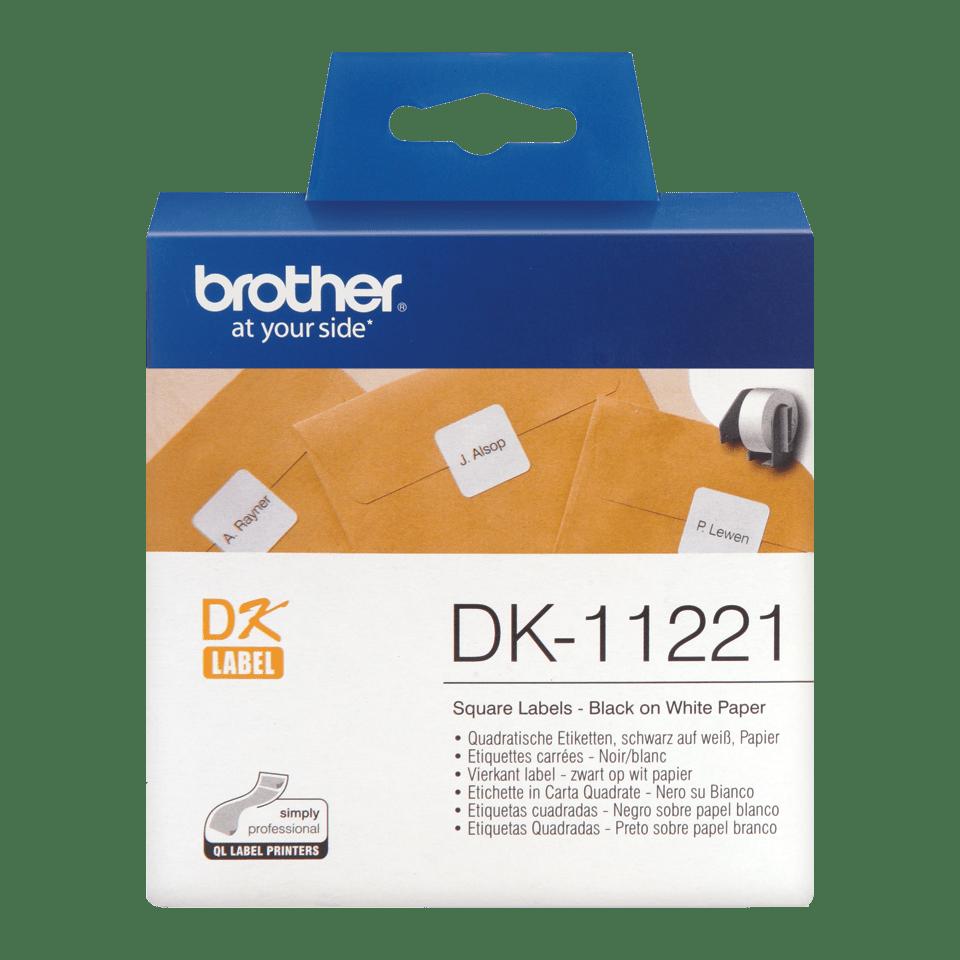 Brother DK-11221 Einzeletiketten – schwarz auf weiß
