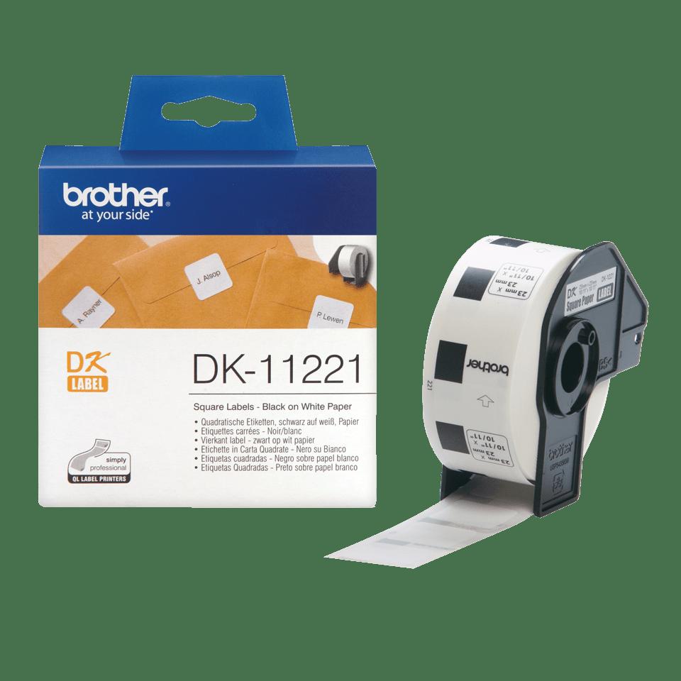 Brother DK-11221 Einzeletiketten – schwarz auf weiß 3