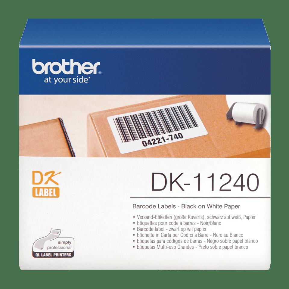 Brother DK-11240 Einzeletiketten – schwarz auf weiß