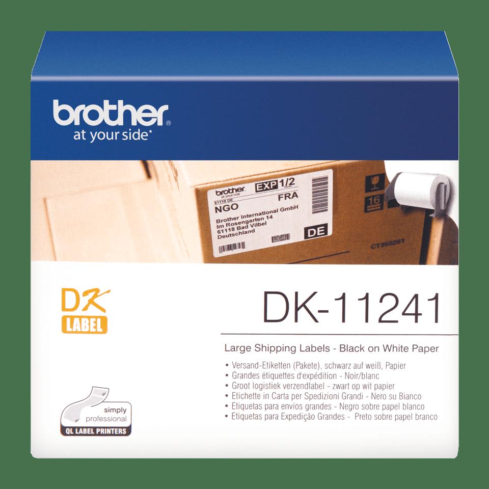 Brother DK-11241 Einzeletiketten – schwarz auf weiß
