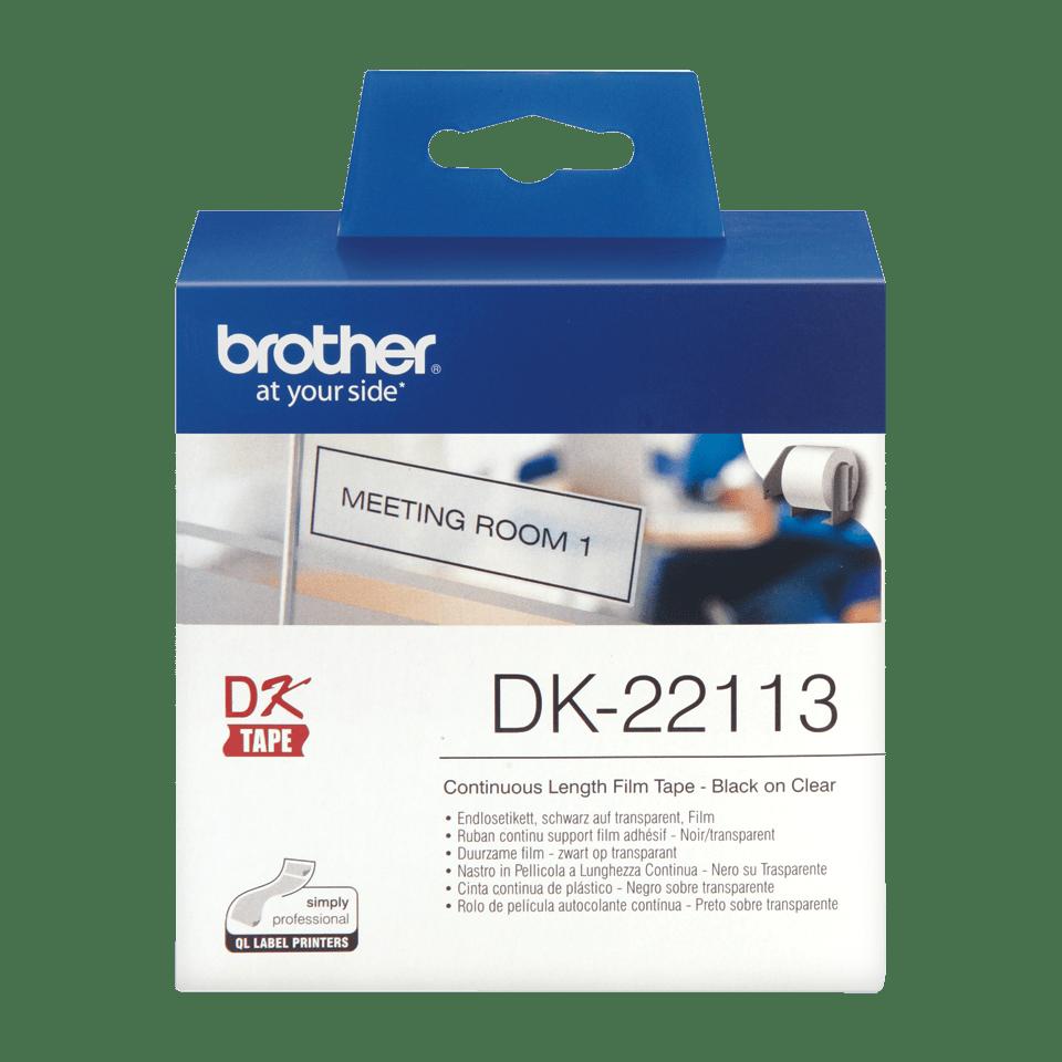 Brother DK-22113 Endlosetiketten – schwarz auf transparent 2