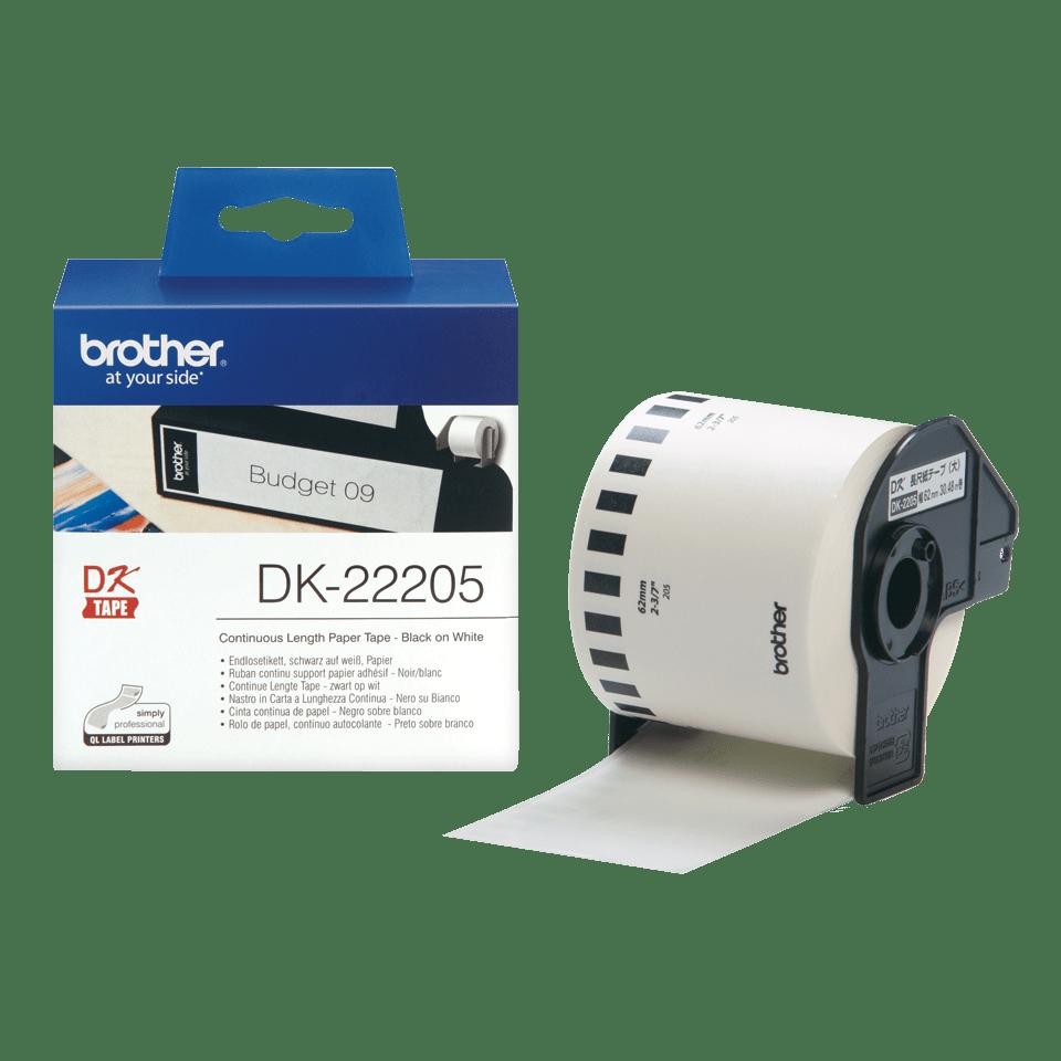 Brother DK-22205 Endlosetiketten – schwarz auf weiß 3