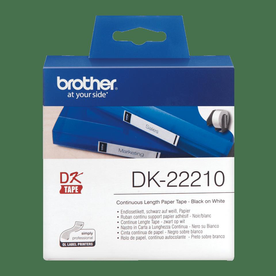 Brother DK-22210 Endlosetiketten – schwarz auf weiß 0