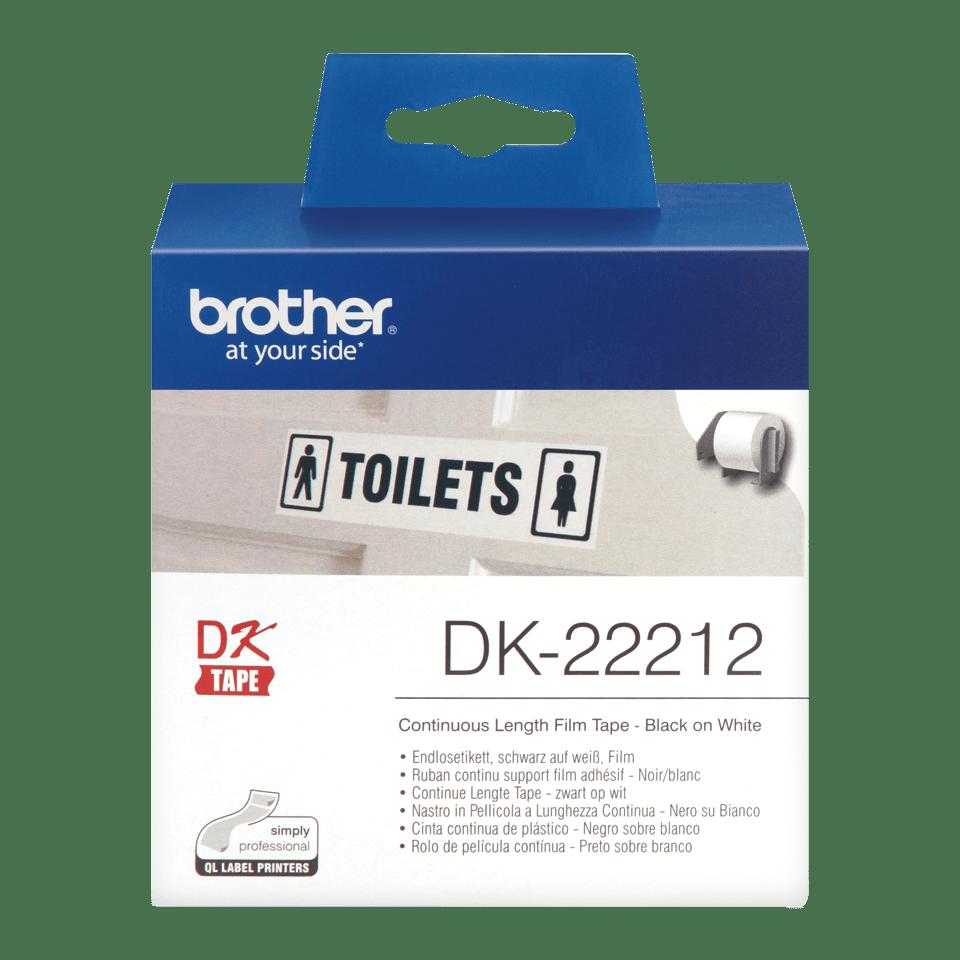 Brother DK-22212 Endlosetiketten – schwarz auf weiß 0