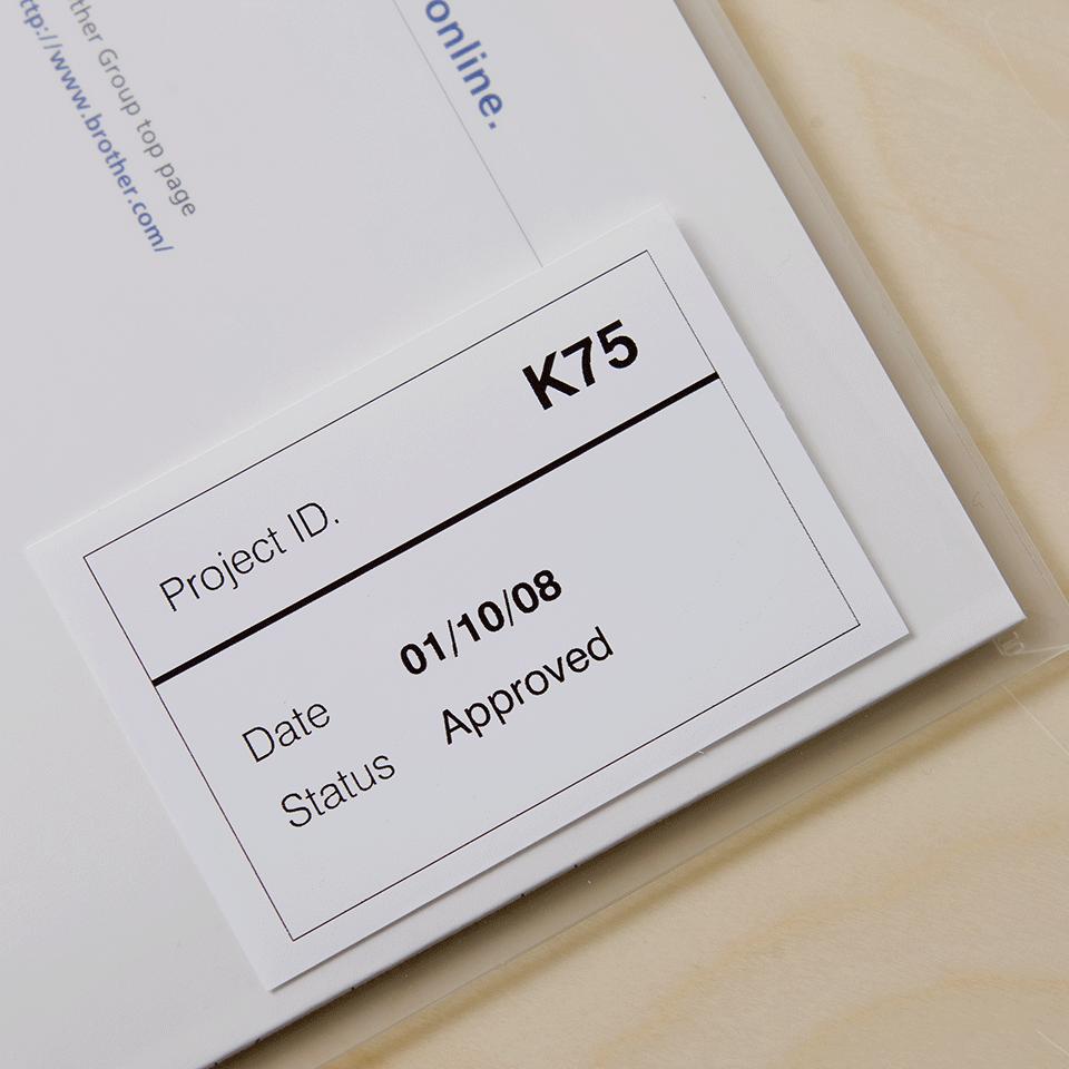 Brother DK-22212 Endlosetiketten – schwarz auf weiß 1