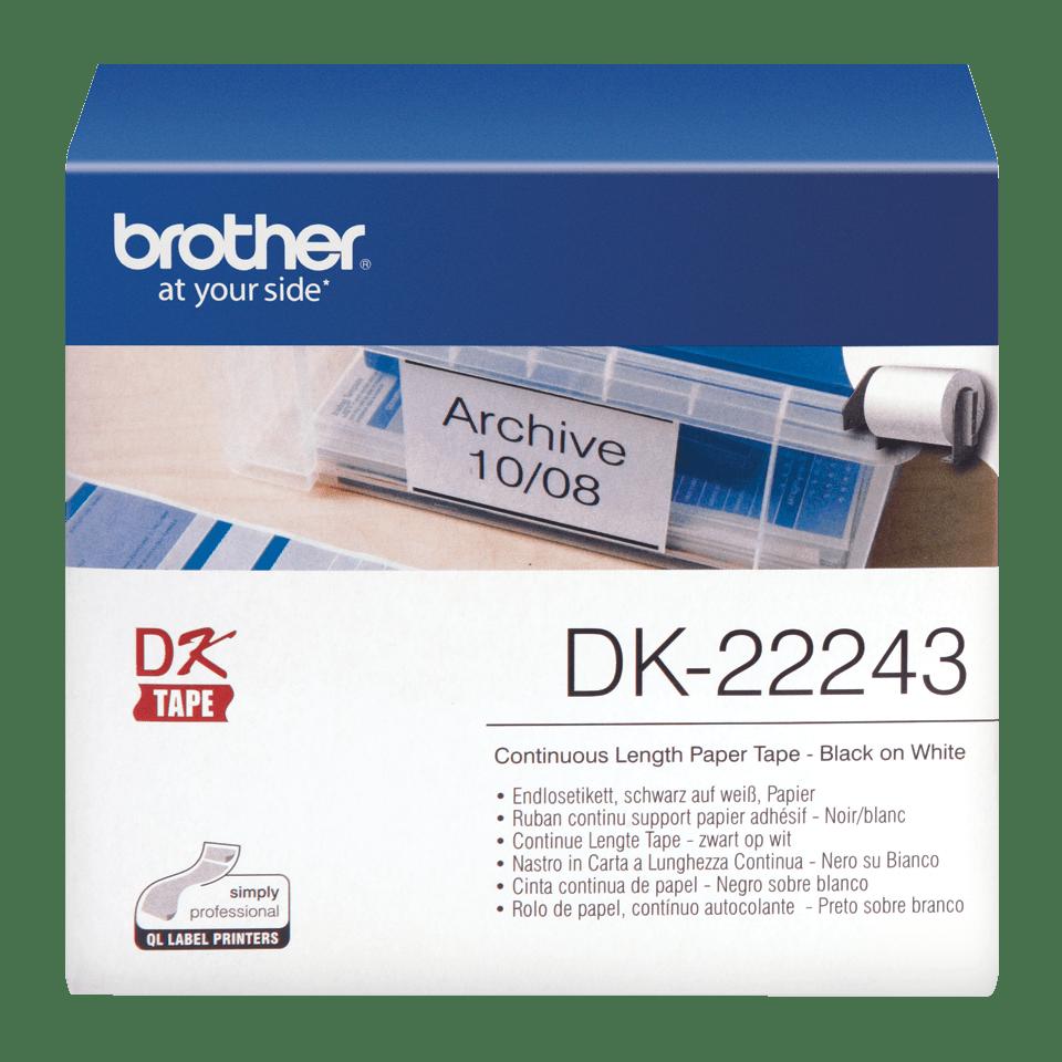Brother DK-22243 Endlosetiketten – schwarz auf weiß 0
