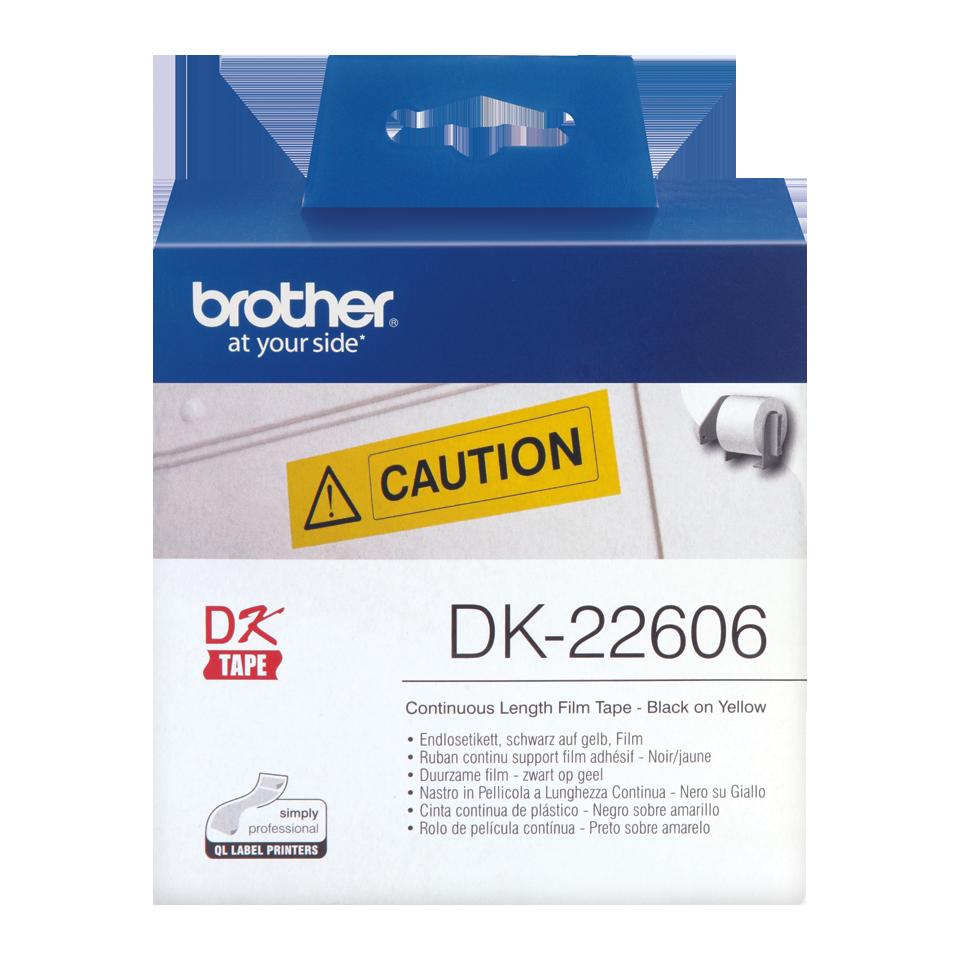 Brother DK-22606 Endlosetiketten – schwarz auf gelb 2