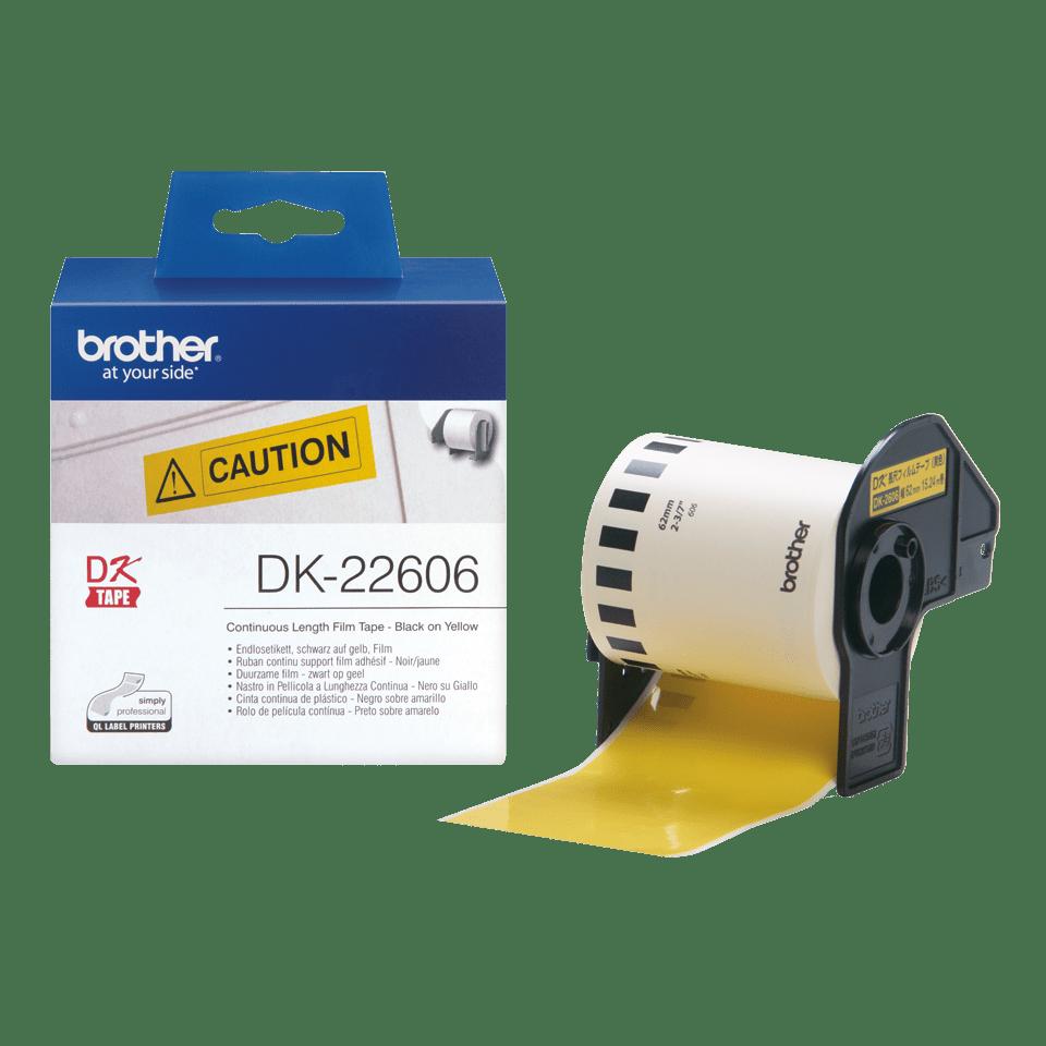 Brother DK-22606 Endlosetiketten – schwarz auf gelb 4