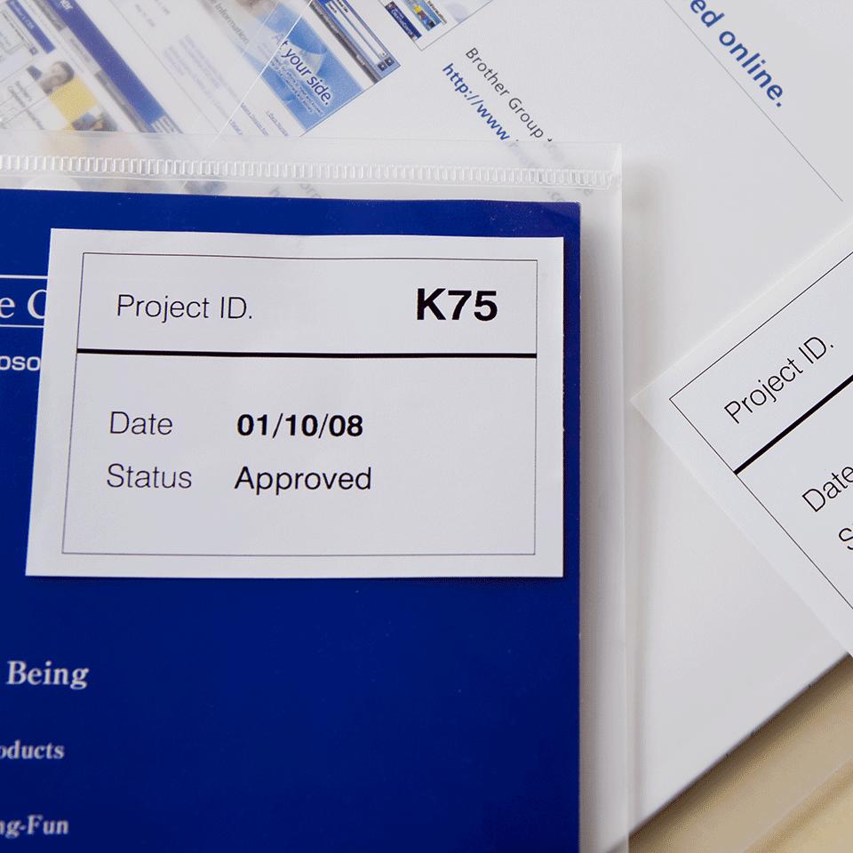 Brother DK-44205 Endlosetiketten – schwarz auf weiß 2