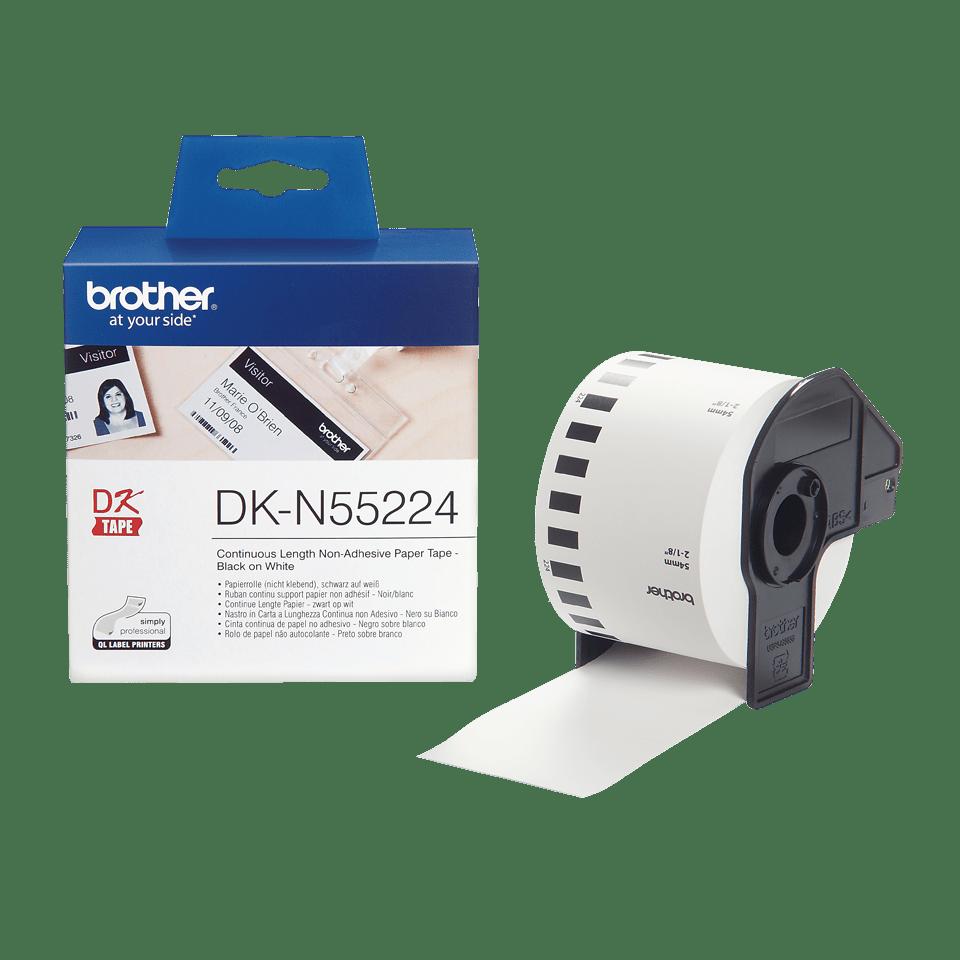 Brother DK-N55224 Endlospapierrolle – schwarz auf weiß