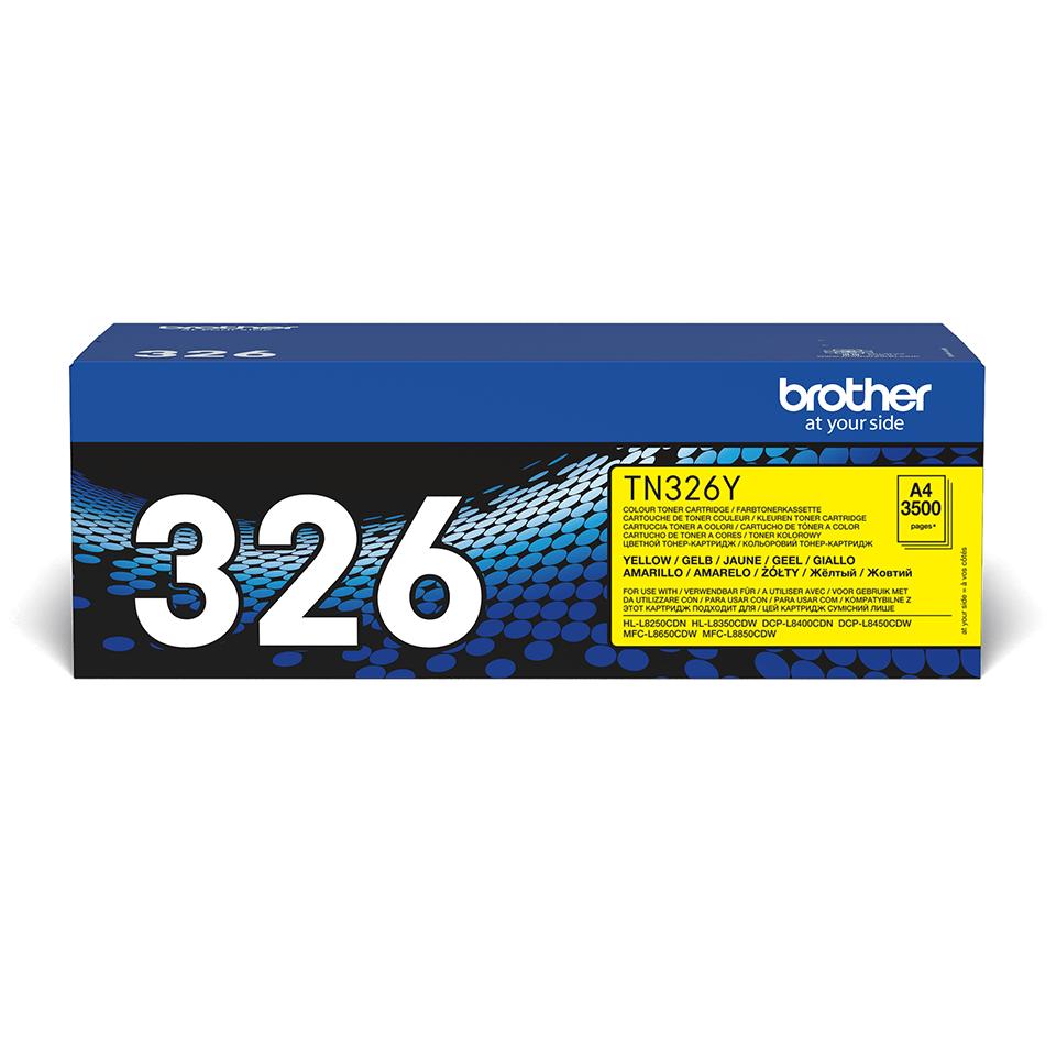 Brother TN-326Y Tonerkartusche – Gelb 2