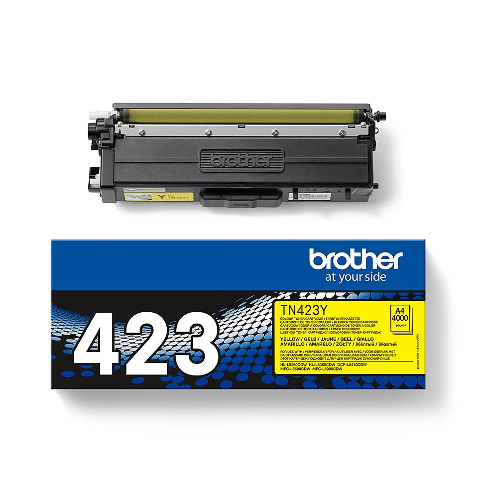 Brother TN-423Y Tonerkartusche – Gelb 2