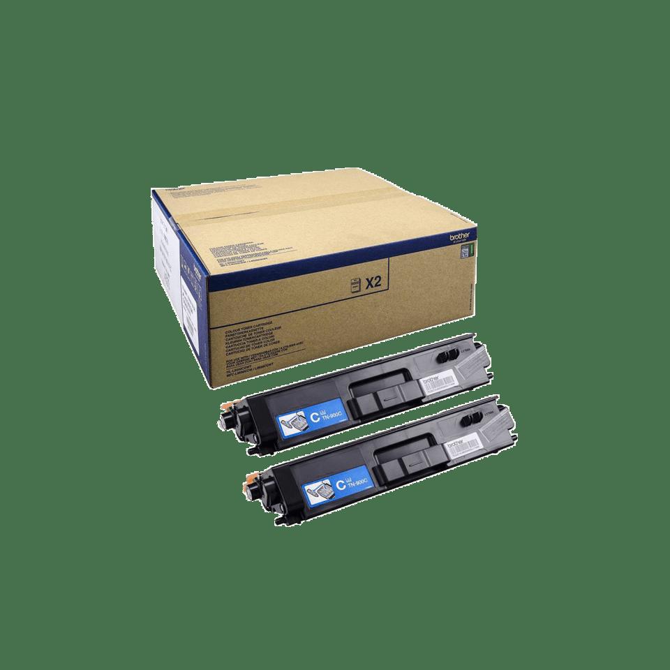 Brother TN-900C Tonerkartusche Twin Pack