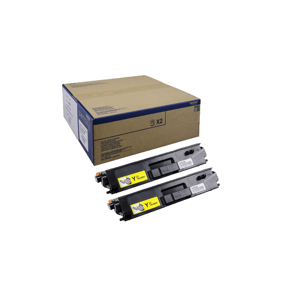 Brother TN-900Y Tonerkartusche Twin Pack 0