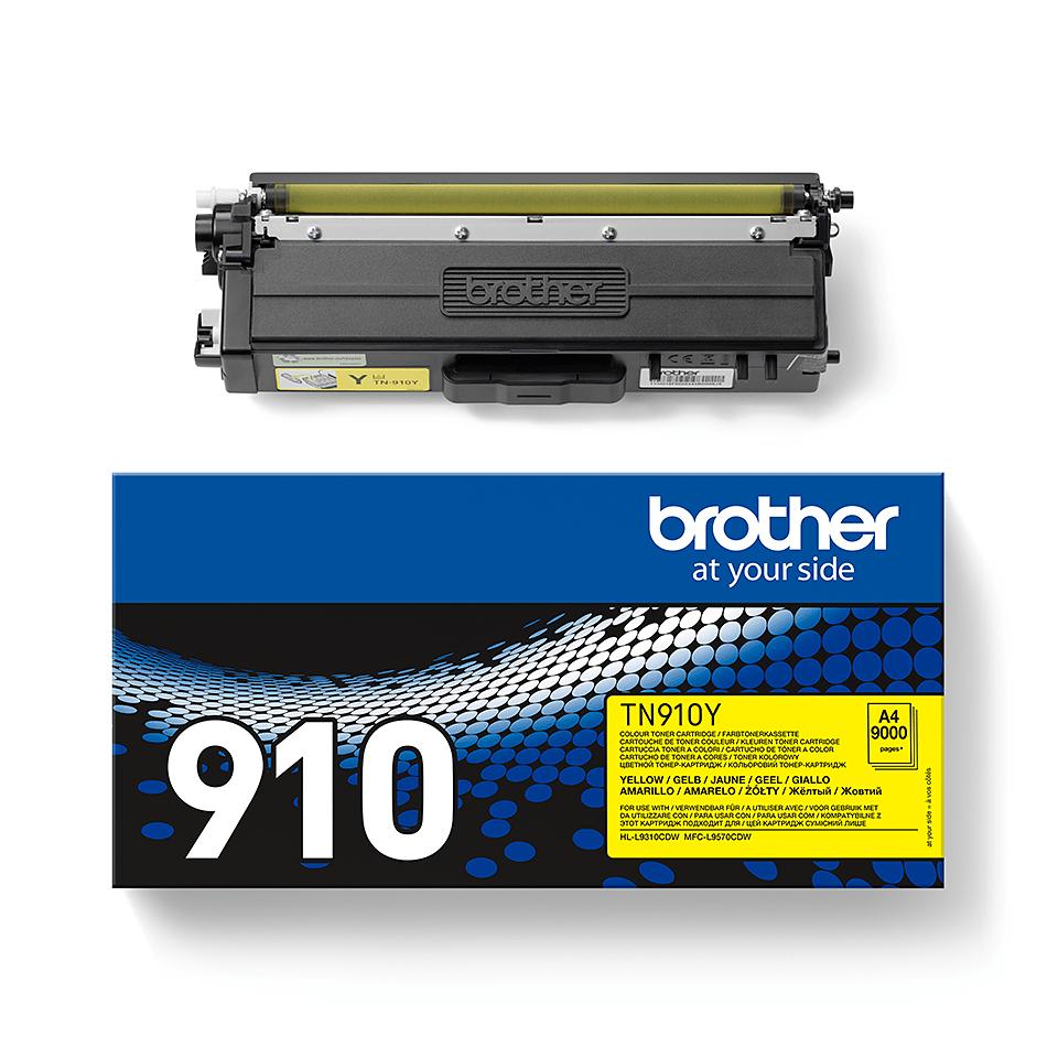 Brother TN-910Y Tonerkartusche – Gelb 1