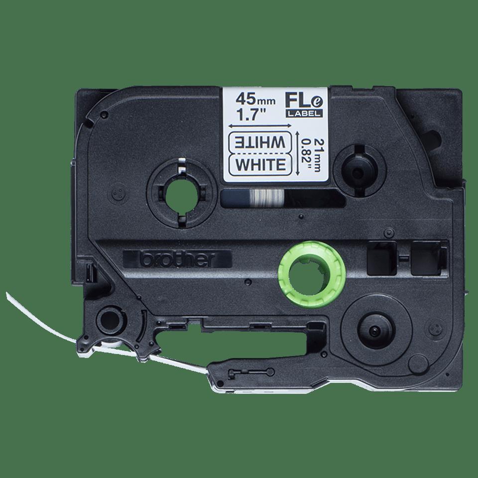 Brother FLe-2511 Einzelfähnchen-Etiketten – schwarz auf weiß 2