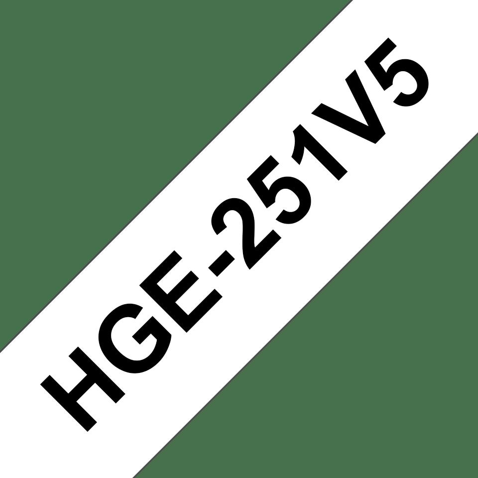 Brother HGe-251V5 Schriftband-Multipack