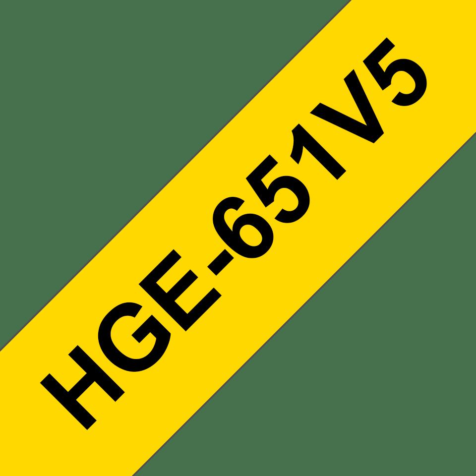 Brother HGe-651V5 Schriftband-Multipack