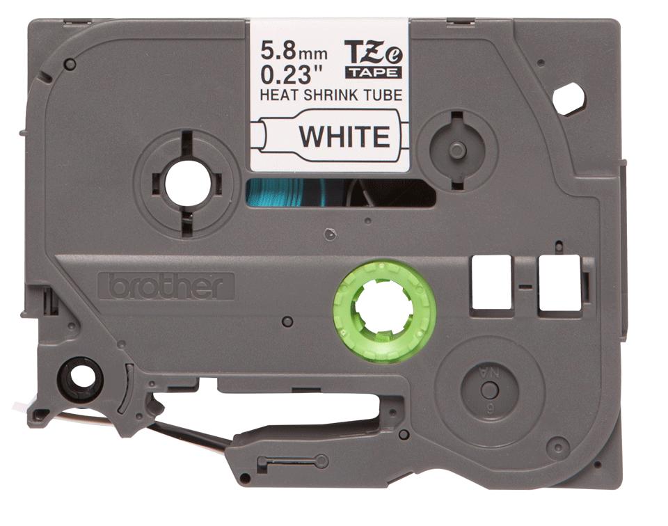 Brother HSe-211 Schrumpfschlauch – schwarz auf weiß