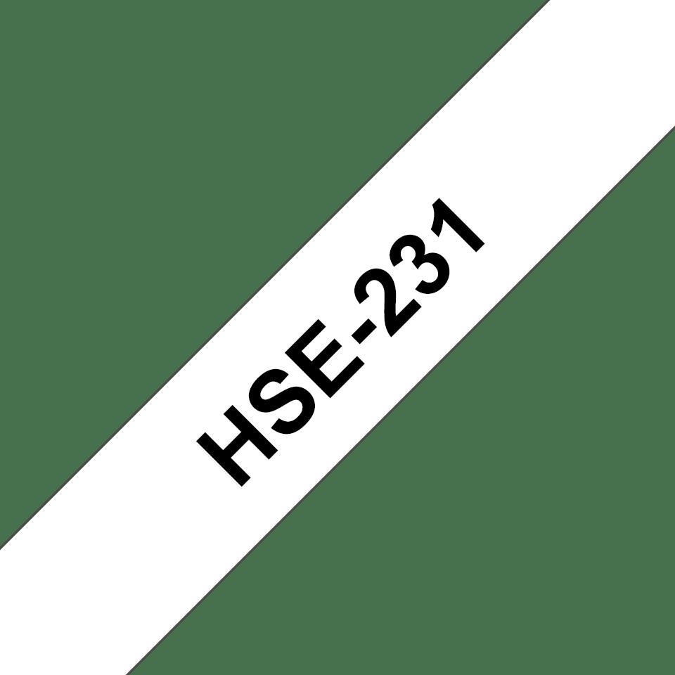 Brother HSe-231 Schrumpfschlauch – schwarz auf weiß 2