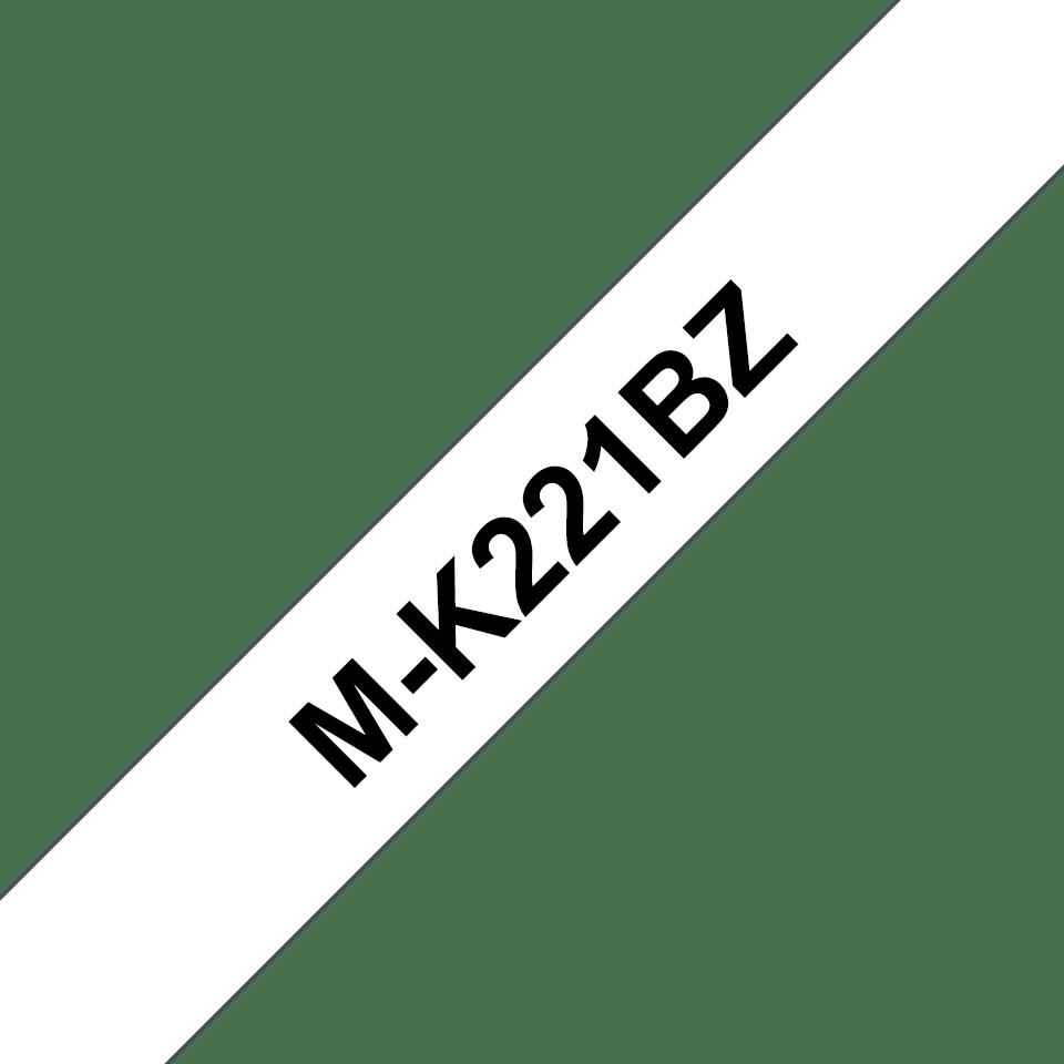 Brother M-K221 Schriftband – schwarz auf weiß