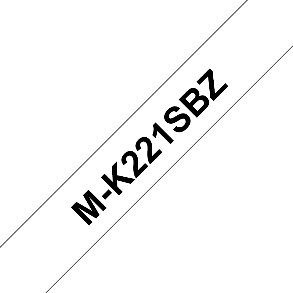 Brother M-K221S Schriftband – schwarz auf weiß