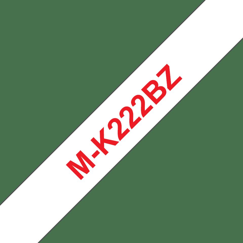 Brother M-K222 Schriftband – rot auf weiß
