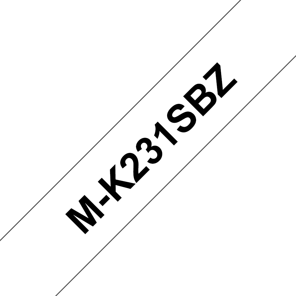 Brother M-K231S Schriftband – schwarz auf weiß