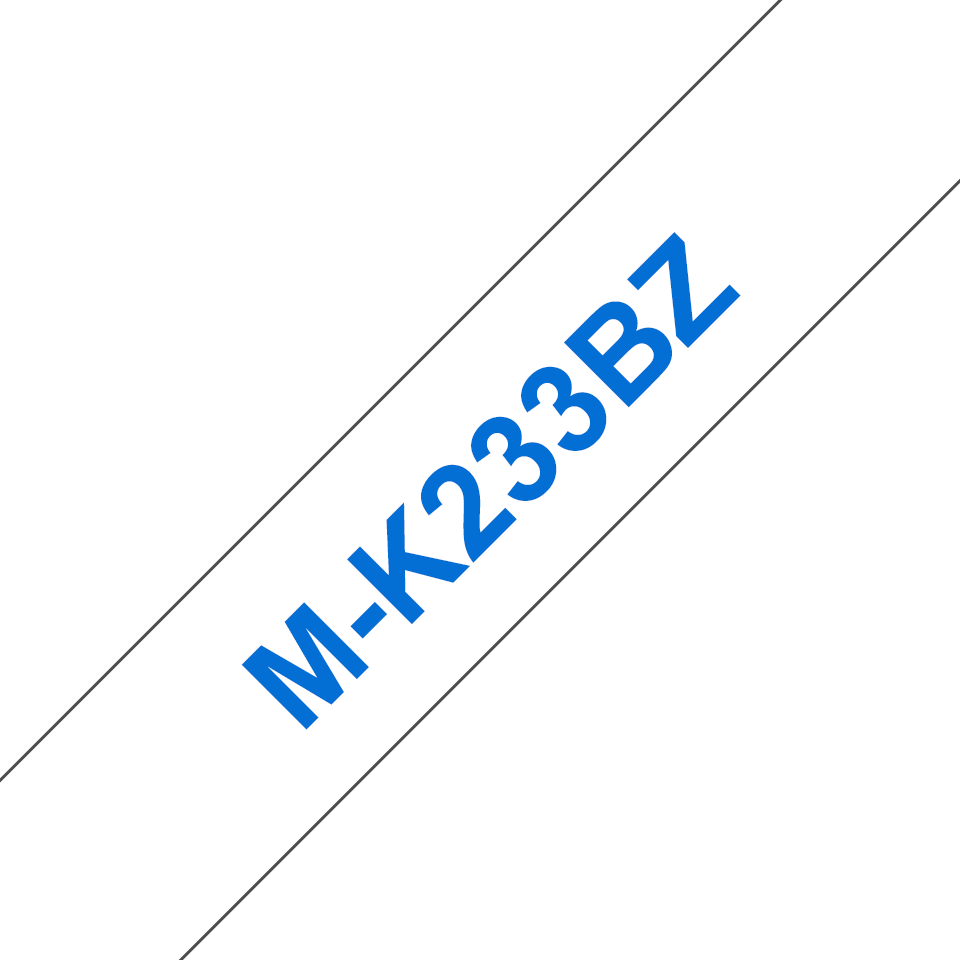 Brother M-K233 Schriftband – blau auf weiß