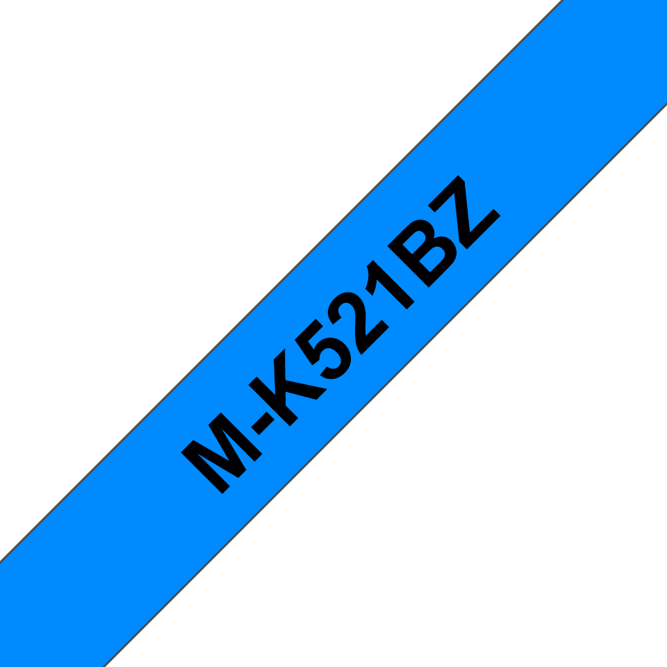 Brother M-K521 Schriftband – schwarz auf blau 0