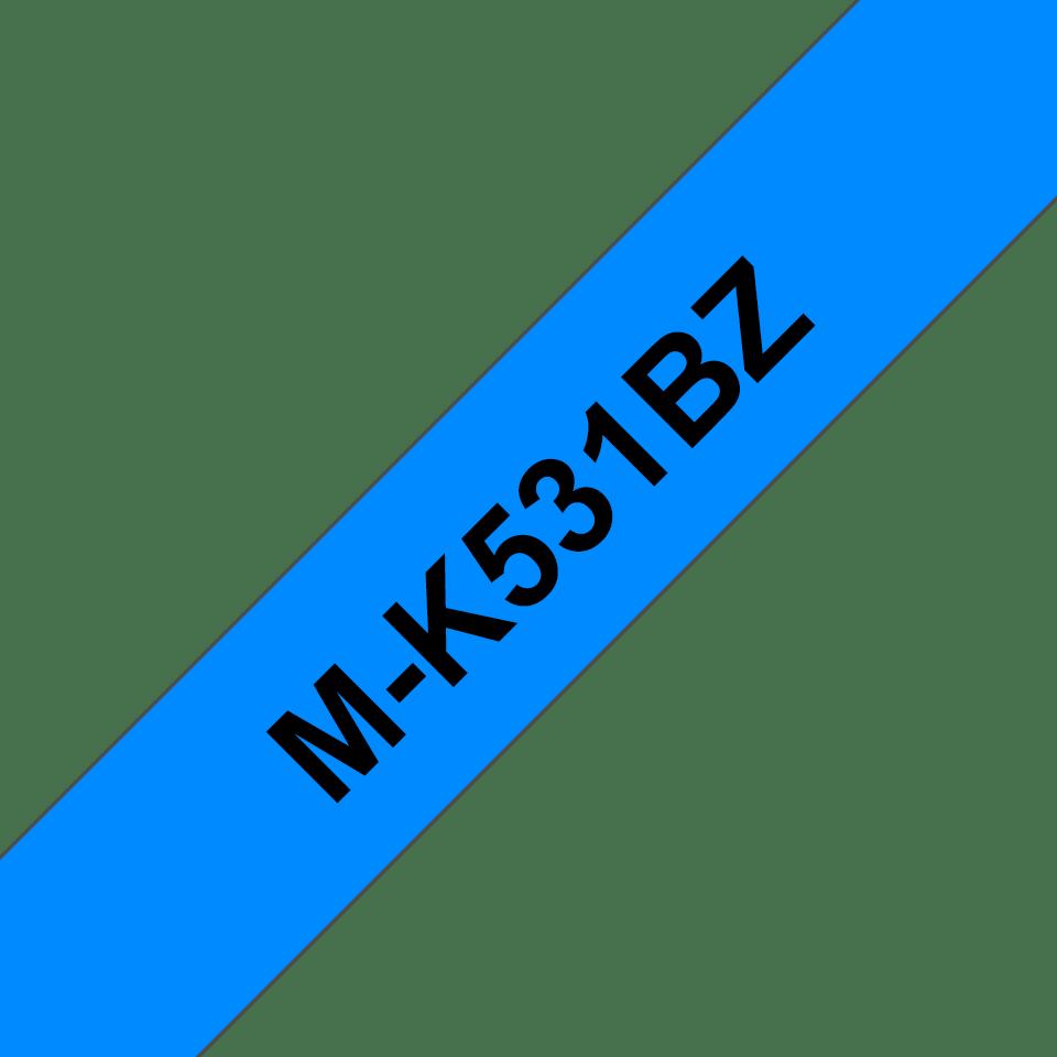 Brother M-K531 Schriftband – schwarz auf blau 0