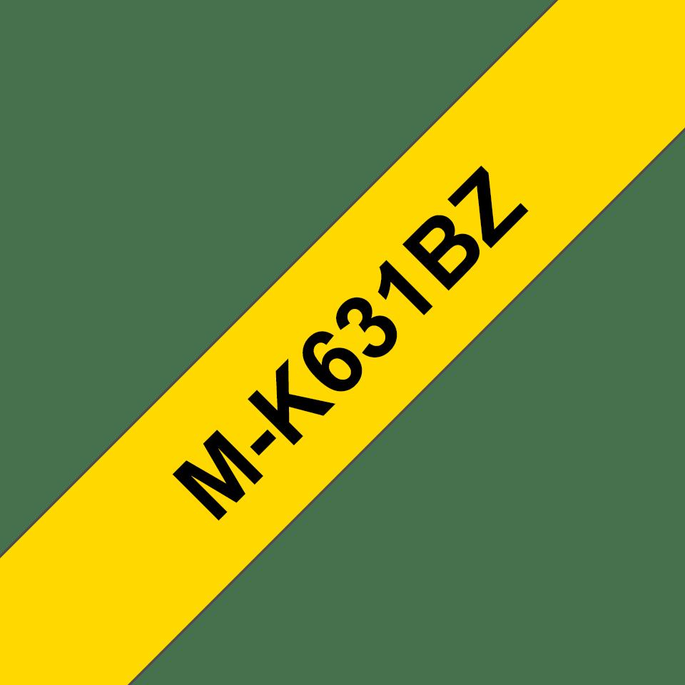 Brother M-K631 Schriftband – schwarz auf gelb