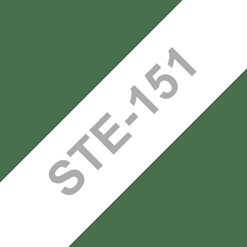 Brother STe-151 Schablonenband – weiß auf transparent 3
