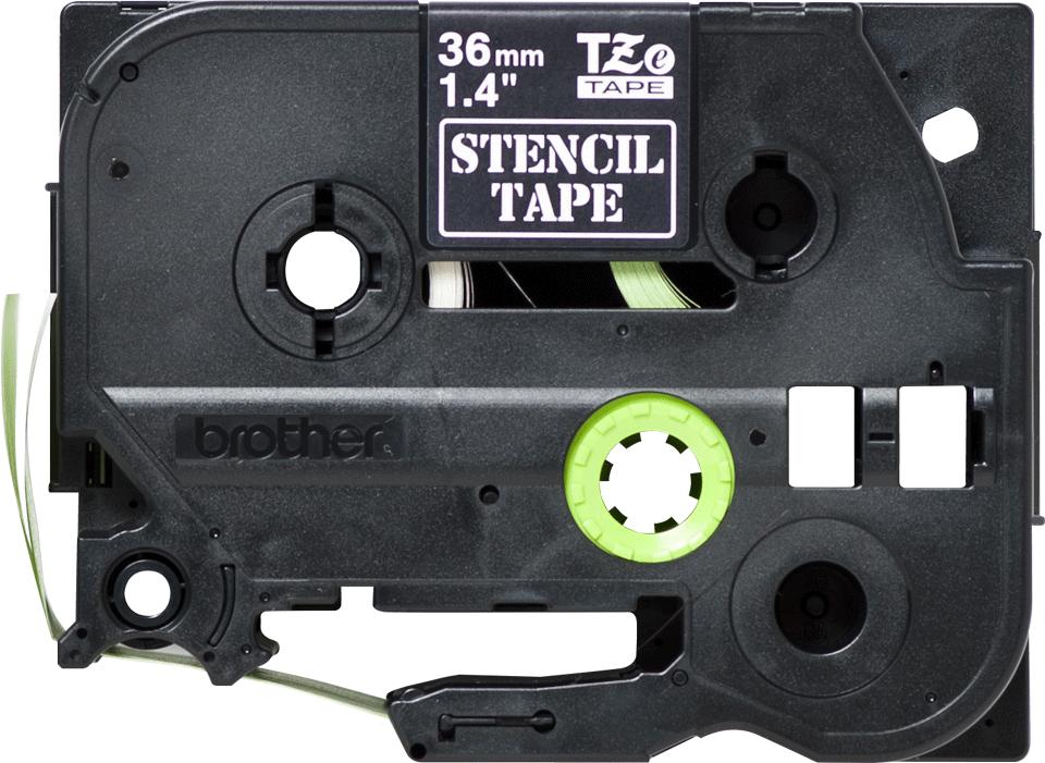 Brother STe-161 Schablonenband – weiß auf transparent 3