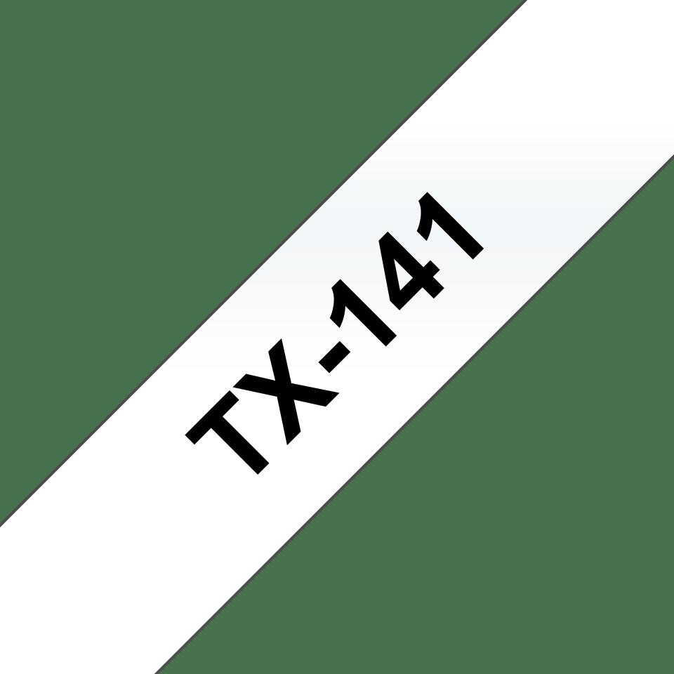 Brother TX-141 Schriftband – schwarz auf transparent