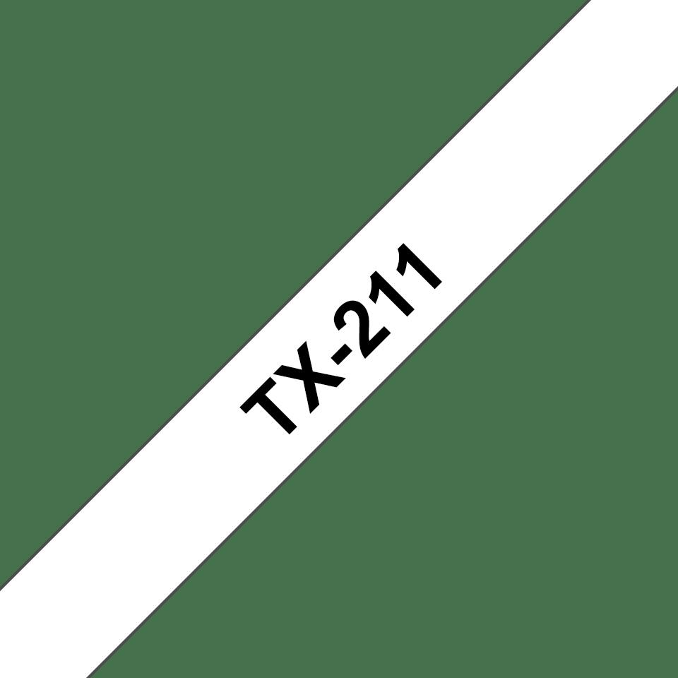 Brother TX-211 Schriftband – schwarz auf weiß