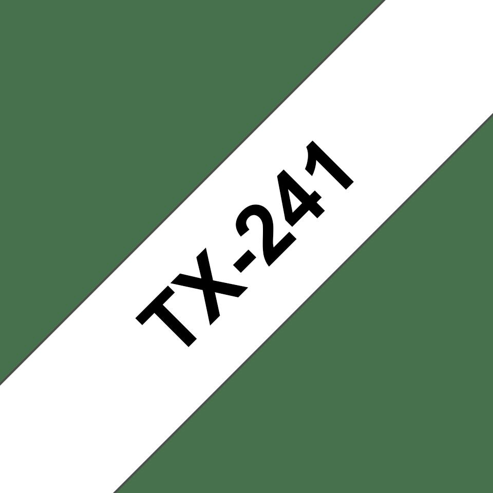 Brother TX-241 Schriftband – schwarz auf weiß 0