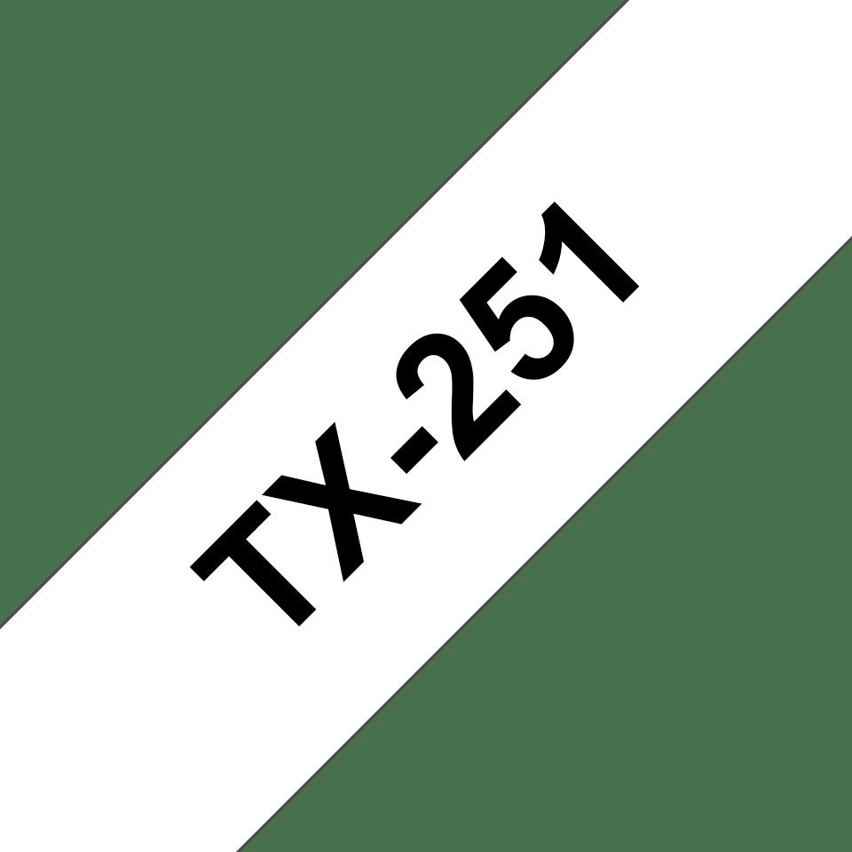 Brother TX-251 Schriftband – schwarz auf weiß