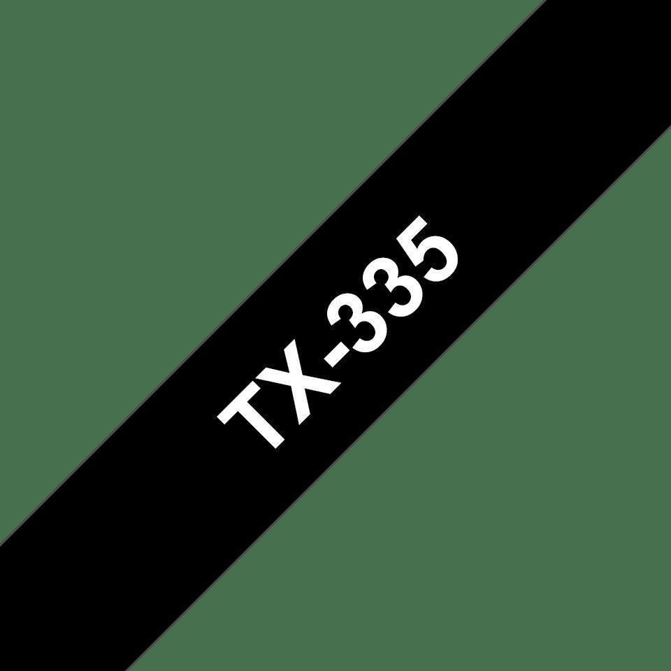 Brother TX-335 Schriftband – weiß auf schwarz