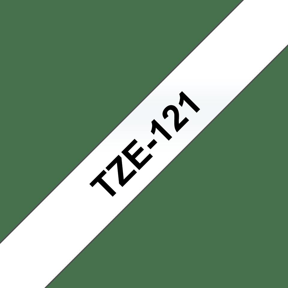 Brother TZe-121 Schriftband – schwarz auf transparent 2