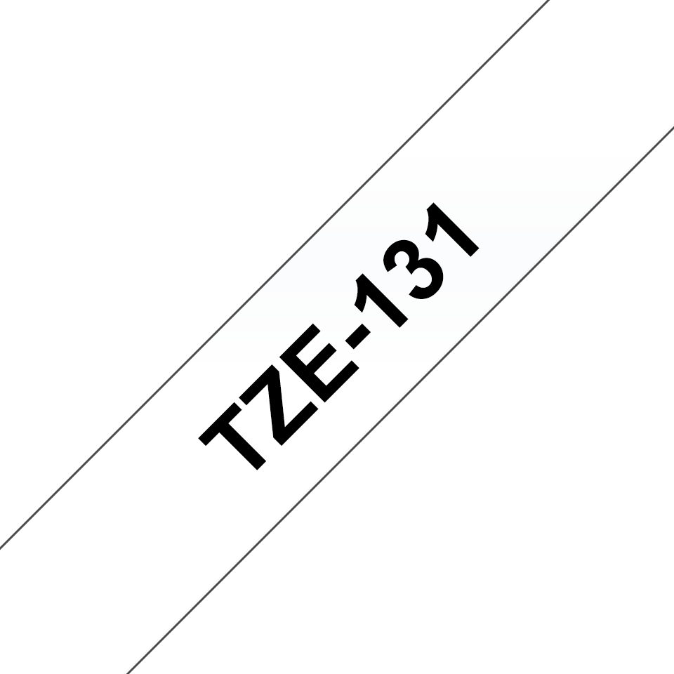 Brother TZe-131 Schriftband – schwarz auf transparent 2