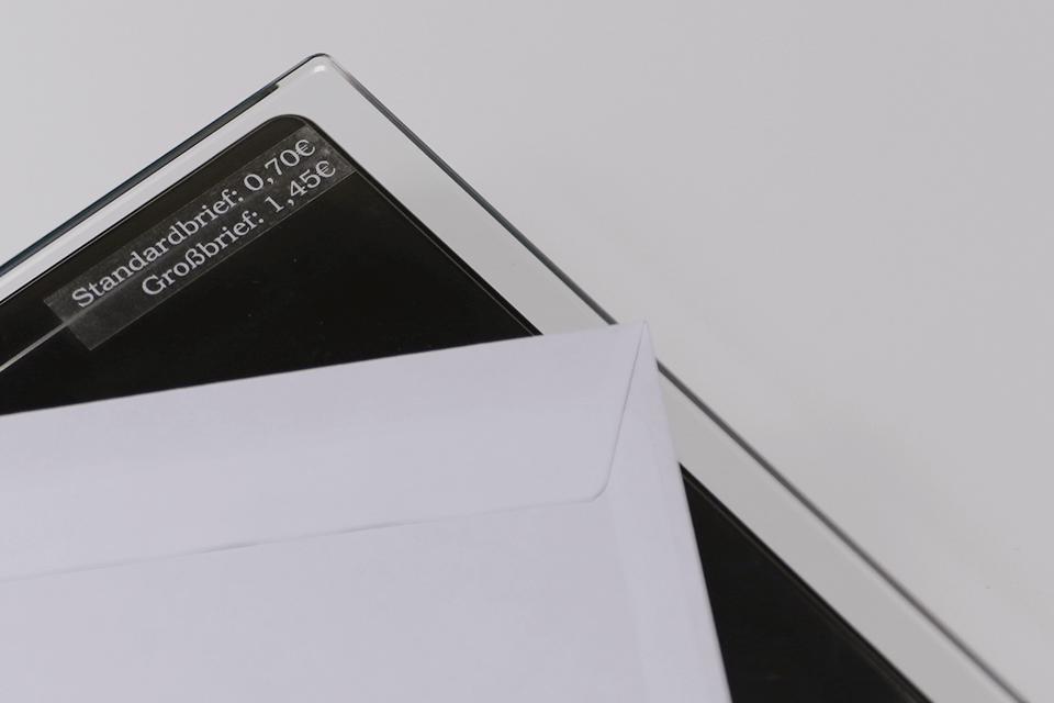 Brother TZe-135 Schriftband – weiß auf transparent